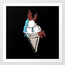 Ice Cream Cone BRRR Art Print