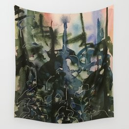 Blue Spruces (3) Wall Tapestry