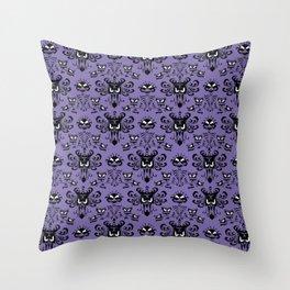 Purple Wallpaper Throw Pillow