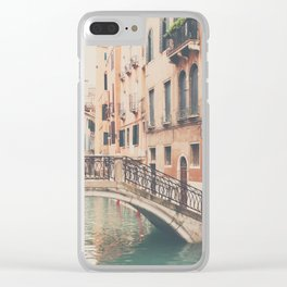 wandering the streets of Venice ... Clear iPhone Case