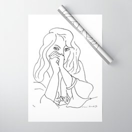 Henri Matisse - A Woman with Loose Hair, 1944, Artwork Sketch Design, tshirt, tee, jersey, poster, a Wrapping Paper