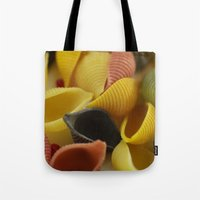 pasta Tote Bags featuring Colorful Pasta  by Tanja Riedel