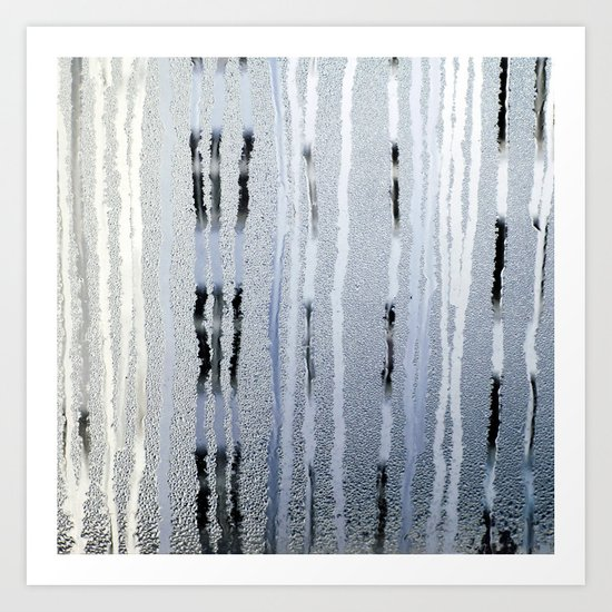 STRIPES BLUE Art Print