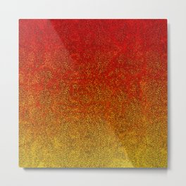 Flame Glitter Gradient Metal Print
