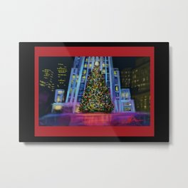 Christmas in Manhattan DP150902b Metal Print