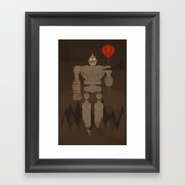 The Robot and The Balloon Framed Art Print