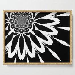 The Modern Flower Black & White Serving Tray