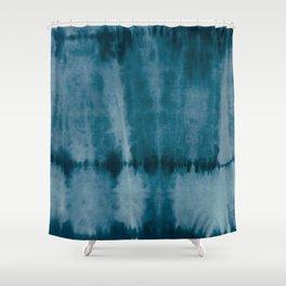 Tye Dye Denim Shower Curtain