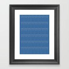 TARDIS Blueprint Pattern - Doctor Who (Version 2) Framed Art Print