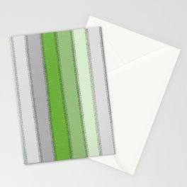 Green lines Stationery Cards