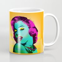marilyn Mugs featuring Marilyn by mark ashkenazi