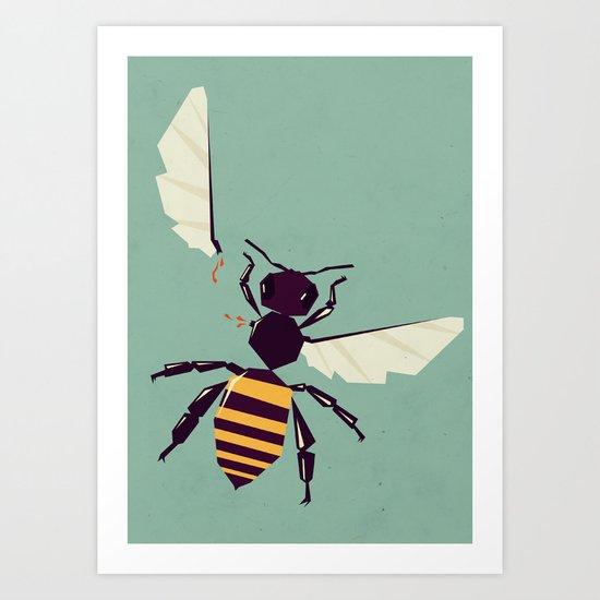H is for honey bee  Art Print