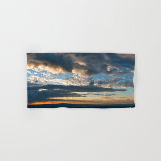 Vibrant Sunrise Cloudscape Hand & Bath Towel