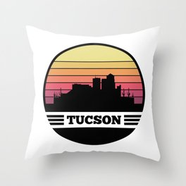 Tucson Skyline Throw Pillow