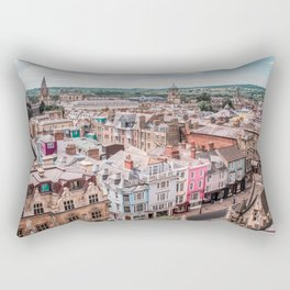 Colorful Buildings in Oxford   London UK City Architecture Urban Photography Rectangular Pillow