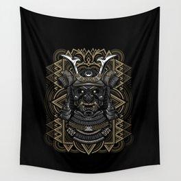 Samurai mask Wall Tapestry