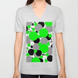 Green Polka Dots Unisex V-Neck