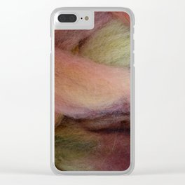Peach-colored wool Clear iPhone Case