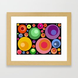 Circles psychedelia Framed Art Print