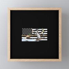 Ducks Flying (Camouflage) Framed Mini Art Print