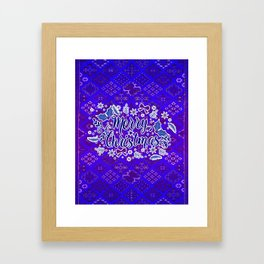 -A31- Merry Christmas Traditional Style. Framed Art Print