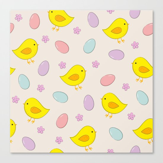 Easter pattern Canvas Print