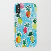 pineapples iPhone & iPod Cases featuring Pineapples by Barbarian // Barbra Ignatiev