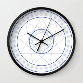 Anime Magic Circle 9 Wall Clock