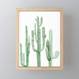 Three Amigos White + Green by Nature Magick Framed Mini Art Print