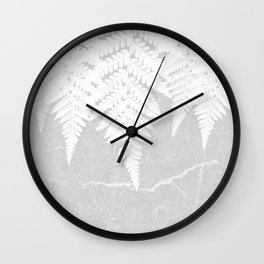 Fern fringe - concrete Wall Clock