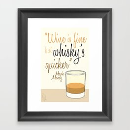 Tv drink quotes [Californication] Framed Art Print