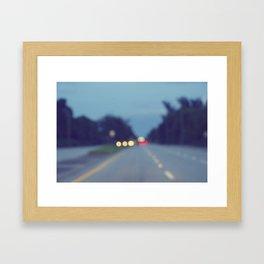 Blurry Road Framed Art Print