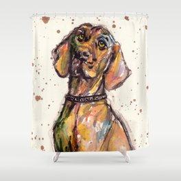 Hungarian Vizsla Dog Closeup Shower Curtain