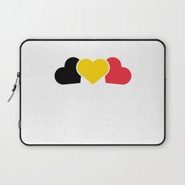 Belgium Heart Flag Laptop Sleeve