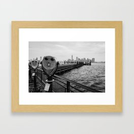 View from Liberty Island - New York Framed Art Print