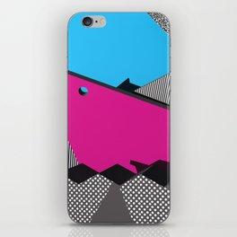 3D 1980s Inspired Geometric Print iPhone Skin