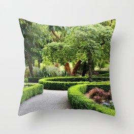 park new zealand landscape christchurch shrubs design nature Throw Pillow