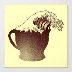 Coffee Wave Canvas Print