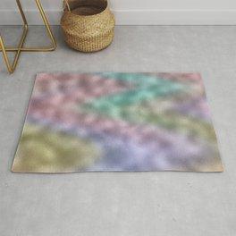 Mottled Rainbow Iridescent Foil Rug