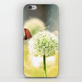 Allium fantasy flowers with butterfly iPhone Skin