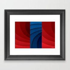 Red and blue color gradient Framed Art Print