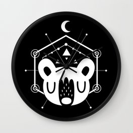 Moon Bear White Wall Clock