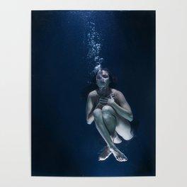 Woman Underwater Poster