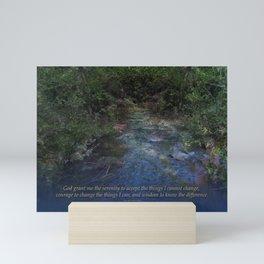 Serenity Prayer Blue Creek Mini Art Print