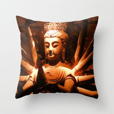 durga, indian goddess Throw Pillow