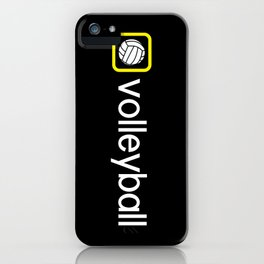 Volleyball (Yellow) iPhone Case