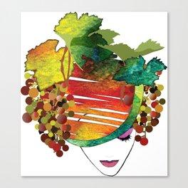 Lady Vineyard Canvas Print