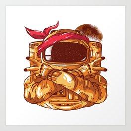 Gangsta Astronaut Art Print