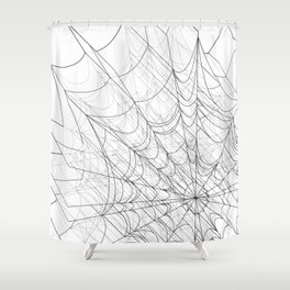 web of lies Shower Curtain