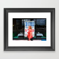 Fried Eggs on Broadway Framed Art Print